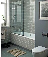 New York Warm Grey Flat Subway Metro Gloss Bathroom Kitchen Wall Tiles 10 x 20cm