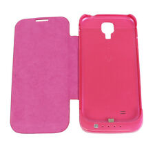 3500MAH BACKUP BATTERY CHARGER POWER FLIP CASE COVER PINK FOR GALAXY S4 S IV