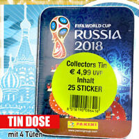 Panini WM 2018 Russia World Cup Sticker Mini Tin inkl. 5 Tüten  OVP