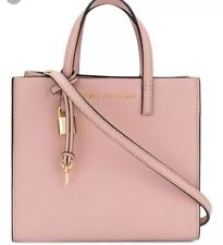 41b4540bf711 New MARC JACOBS The Grind Mini Grind Rose Bag Gold tone padlock logo