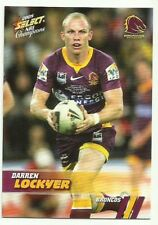 2008 NRL SELECT CHAMPIONS BRONCOS DARREN LOCKYER 9 COMMON BASE CARD FREE POST