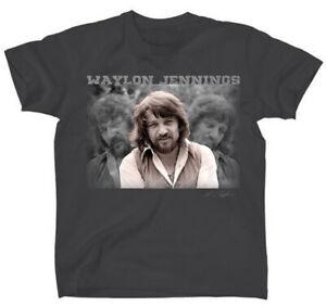 Waylon Jennings Portrait Outlaw Country Rockabilly Music T Shirt ALC-JEN-1000