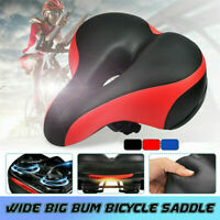 Wide Big Bum Bike Bicycle Gel Cruiser Extra Soft Comfort Sporty Pad Saddle Seat