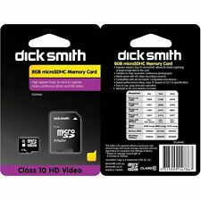 Dick Smith 8GB Micro SDHC Memory Card Class 10 with SD Adapter