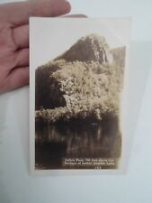 Vintage RPPC Indian Face 700 Feet Above The Surface Of Lower Ausable Lake §A1436