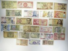 Vintage Lot of 25 Foreign Banknotes World Paper Money Collections & Lots