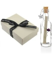 30th Birthday Gifts for Her - Personalised Message In a Bottle with Box