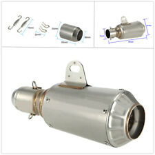 51mm Motorcycle Exhaust Tip Pipe Escape Exhaust Mufflers Exhaust Pipe w/Adapter