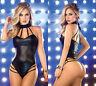 Completo Abito Body Lucido Aderente Simil Latex Mistress Dominatrice Clubwear