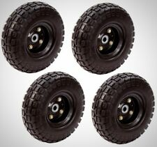 No Flat Tires (4-Pack) Replacement Wheel Airless 10 in. Hand Truck Garden Cart