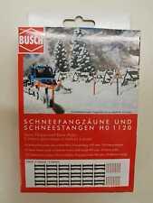 """BUSCH 1120 Spur H0 Schneefangzäune und Schneestangen"""" #NEU in OVP#"""