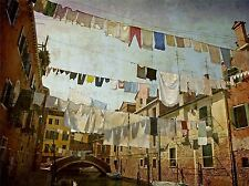 CLOTHESLINES VENICE WASHING LINE LAUNDRY PHOTO ART PRINT POSTER PICTURE BMP584A