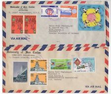 1976 &1979 PHILIPPINES - 2 x Air Mail Covers CEBU CITY To FUERTH GERMANY