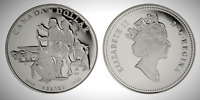 Canada 1990 Henry Kelsey Tricentennial Proof UNC Silver Dollar!!