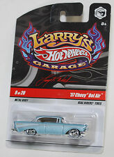 Hot Wheels LARRY'S GARAGE '57 CHEVY BEL AIR REAL RIDERS 1:64 VHTF