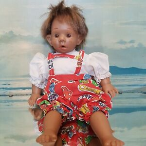 Expression Doll RARE Gloobee Type Clothes Retro Ugly Baby Vintage Dummy Plush