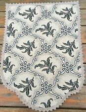 Jacquard Trellis Vine Green  chair backs, polyester/cotton