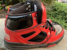 Osiris Mid Tech Shoes Sneakers 5.5M Red Boho Retro Casual Dress