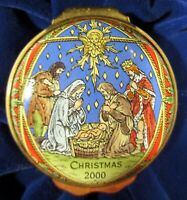 Halcyon Days Enamels Christmas Box for 2000