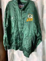 Vintage NFL Pro Line Green Bay Packers Logo Athletic Jacket Coat Mens Size XL