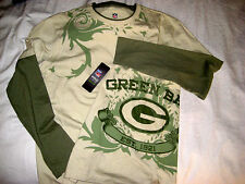 GREEN BAY PACKERS NFL PRO LINE SOFT ORGANIC COTTON GRAPHICS JERSEY SHIRT-NWT-L