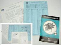 Zenith 35/40 INAT Vergaser Betriebsanleitung Ersatzteilliste Mercedes Benz 230 S
