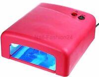 UV Lichthärtungsgerät Lichthärtegerät UV-Lampe  mit Timer UV Lampe Pink