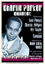 Charlie Parker at Birdland in New York City Concert Poster 1953