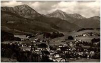 Siegsdorf alte Ansichtskarte 1960 gelaufen Panorama mit Hochgern und Hochfelln
