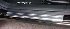 Nissan Qashqai +2 (7 Places) en acier inoxydable Sill Protections/coup De Pied Plaques