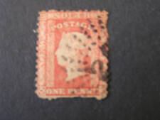 NEW SOUTH WALES, SCOTT #35. 1p. VALUE RED 1860-63 QV ISSUE USED