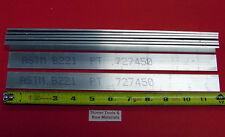 "8 Pieces 1/8"" X 1"" ALUMINUM FLAT BAR 12"" long 6061 T6511 New Extruded Mill Stock"