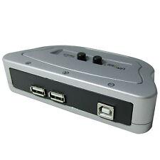 2 Port USB 2.0 Manual Sharing Switch BOX Printer Scanner 2:1 2A 1B SELECTOR LU
