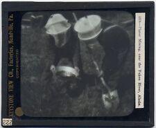 PHOTO ON GLASS PLACER MINING NEAR YUKON RIVER ALASKA