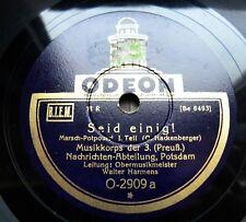 1144/ WALTER HARMENS-Musikkorps - Seid einig ! Potpourri Marsch-78rpm Schellack