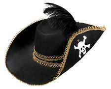 Bonny Black Cappello da pirata NUOVO - Carnevale Cappello berretto copricapo