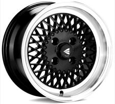 15x7 Enkei ENKEI92 5x114.3 +38 Black Rims Fits Type R Civic MR2