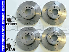 FOR FORD MONDEO ST200 ST24 FRONT & REAR DRILLED & GROOVED BRAKE DISC DISCS NEW