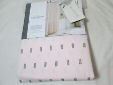 "New  Threshold Quality & Design  Shower Curtain 72""x72"" PINK/BLACK PRINT NIP"