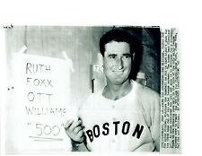 1960 TED WILLIAMS BOSTON RED SOX 8X10 PHOTO 500TH HOME RUN BASEBALL HOF USA