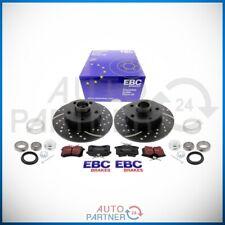 EBC für VW Golf 3 VR6 5x100 Turbo Groove Bremse Bremscheiben Beläge Hinterachse