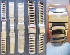 pryngeps cinturino 22 crono chronograph bracelet strap band steel watch for part