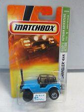 Matchbox Jeep Wrangler 4x4 (black wheel version)