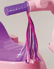 Handlebar Streamers Girls Childrens Bike Ride Kids Pink Purple White Silver Pair