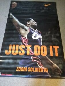 Lebron James Vinyl FootLocker Nike Promotional Limited Edition 2-sided Banner