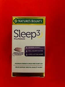 nature's bounty sleep3 10mg 120 tablets Exp Date:01/2023