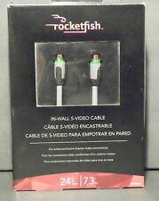 ROCKETFISH 24 FT 7.3 M IN-WALL S-VIDEO CABLE NEW NEVER USED