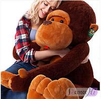 Giant Huge Large Big Stuffed Animal Soft Plush Brown Monkey 90cm Doll Plush Toy