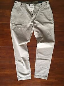 FARRELL  THE STONE  CHINO PANTS IN CELEBRATION OF GREAT BRITAIN ( W 34 R ) $ 185