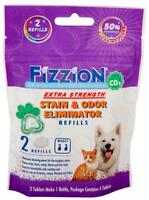 Fizzion EXTRA STRENGTH Pet Stain & Odor Remover Dog Cat Urine (2 Tablet Bag)